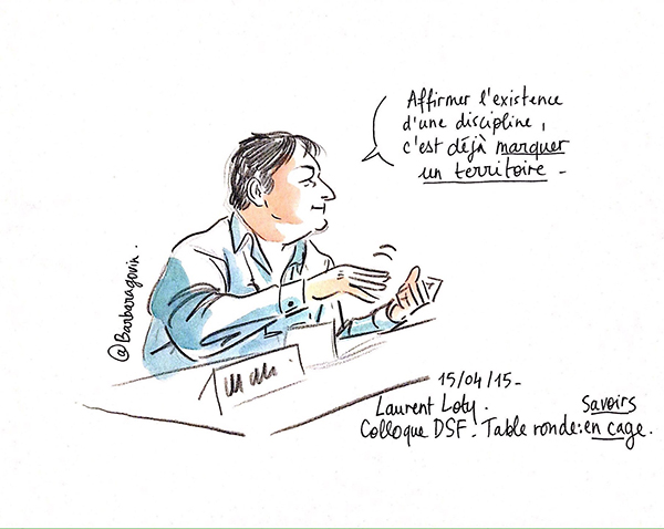 livesketching, portrait d'intervenant
