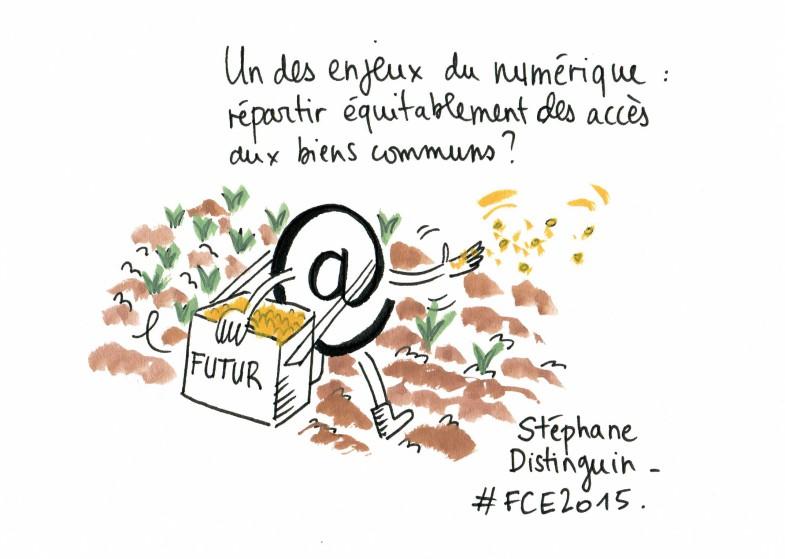 livesketching fce2015, les enjeux du numérique